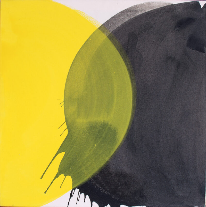 Møte, 2002, 97x97 cm